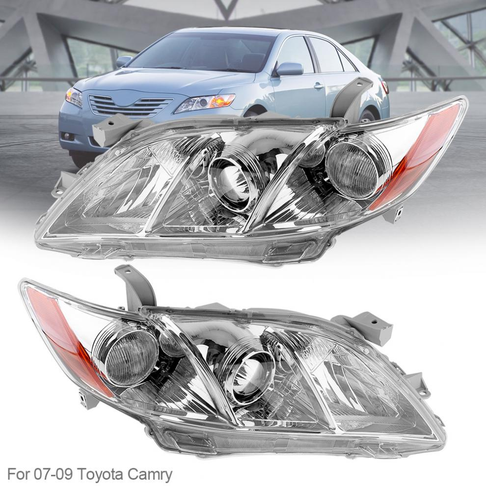 2 Pcs Durable Waterproof Auto Headlamps Clear Projector Left And Right Car Headlights For 07 09