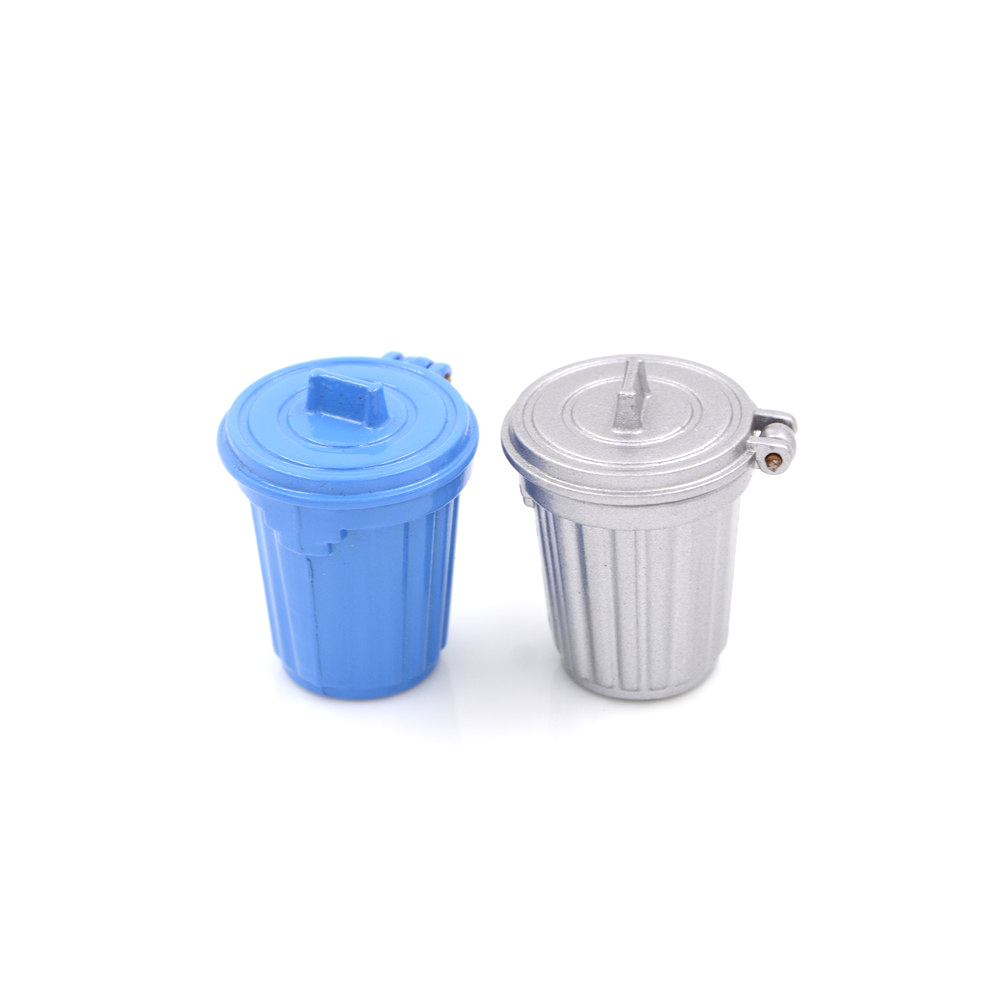 1PCS Simulation 1:12 Dollhouse Miniature Accessories Dustbin / Trash Can Kitchen Furniture Toys 2Colors