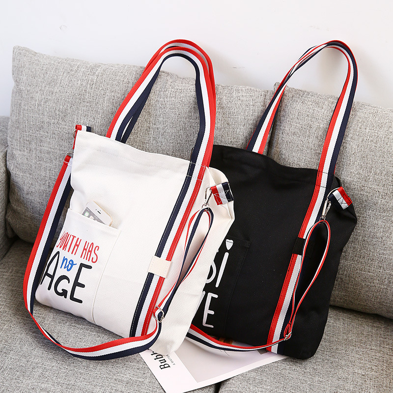 Raged Sheep Women Tote Bags Canvas Letter Fashion Daily Use Foldable Canvas Shoulder Bag Plaid Canvas Tote For Women Female