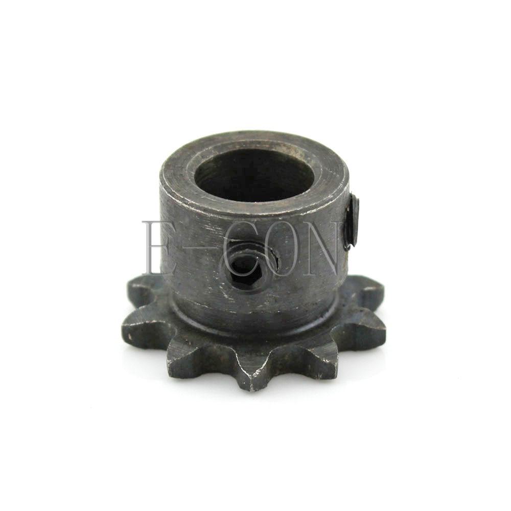 1pcs 10T 10mm Bore 04C10T Metal Pilot Motor Gear Roller Chain Drive Sprocket