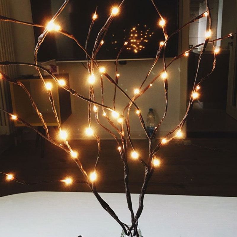 2018 New Modern Branch Lamp Floral Light 20LED AA Battery Powered Willow Branch Fairy Light Vase Coffe Bar Wedding Holiday Decor (5)