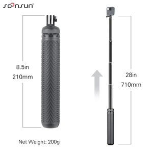 Image 2 - Soonsun 3in1 Opvouwbare Statief Uitschuifbare Monopod Pole Hand Grip Selfie Stick Voor Gopro Hero 9 8 7 6 5 4 voor Dji Osmo Accessoire