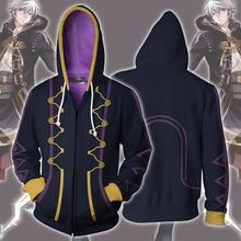 Game Fire Emblem Hoodie Robin Sweatshirts Cosplay Costume Jacket  Zipper Clothing