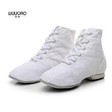 Women's Men's Jazz Dance Shoes Lace Up Boots Children's kids Jazz Sneaker Dance Shoes Canvas or Leather Jazz Boots 3 Colors