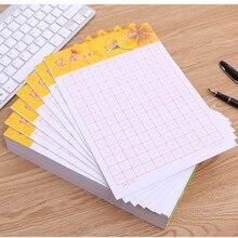 Libro de ejercicios cchino cuadrícula práctica papel cuadrado en blanco libro de ejercicios chino. Tamaño 6,9*9 pulgadas, 20 libros/juego