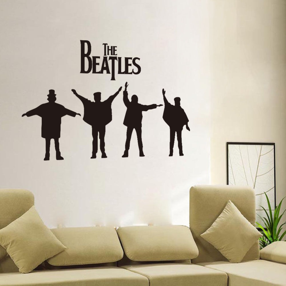 popular beatles wall murals buy cheap beatles wall murals lots free shipping beatles figure sticker reduce vinyl wall stickers living room bedroom art deco mural wall