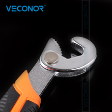 Veconor 2pcs Universal 9~32mm Quick Snap and Grip Adjustable Spanner Wrench Tool Set Pipe Wrench Household Hand Tools