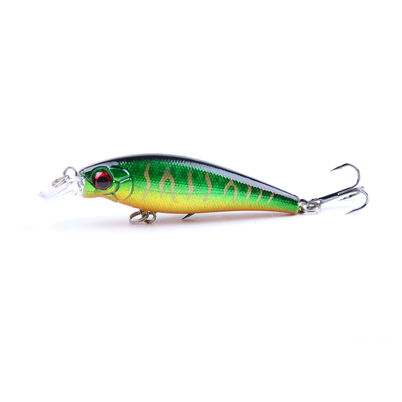 1PCS 7.4cm 7g Minnow Fishing Lure With 6# Hooks Fish Wobbler Pesca Crankbait Artificial  Hard Bait Swimbait ZB30 10pcs 7 5cm soft lure silicone tiddler bait fluke fish fishing saltwater minnow spoon jigs fishing hooks