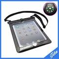 Envío gratis impermeable bolsa de la caja para el iPad 2 / 3 / 4 / aire 10 pulgadas cubierta para Tablet 10 metros bajo el agua buceo