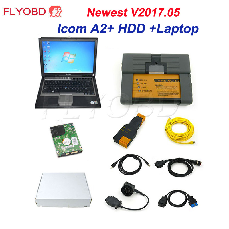For BMW ICOM A2+B+C Diagnostic & Programming Tool with HDD 2018-07 Software and Laptop D630 with Expert model (ista 4.11.30) недорго, оригинальная цена