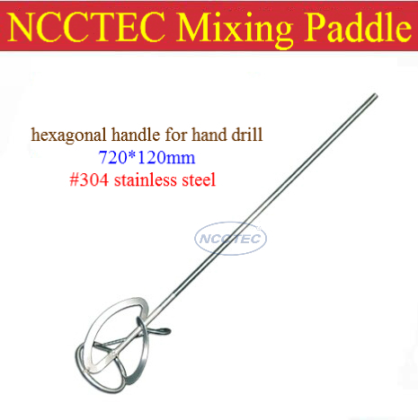 ФОТО #304 stainless steel paint mixer paddle shaft NMP3S FREE shipping   diameter 4.8'' 120mm, length 28'' 720mm, 1.3kg