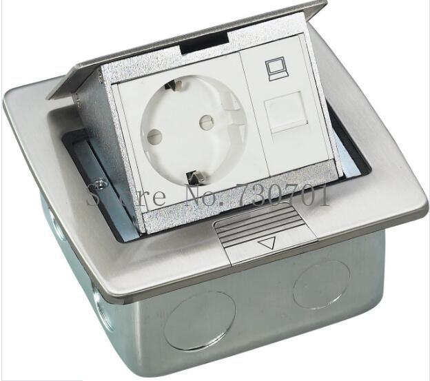 Fabricant tout en aluminium panneau EU Standard Pop Up prise de sol prise électrique combinaison modulaire personnalisée disponible