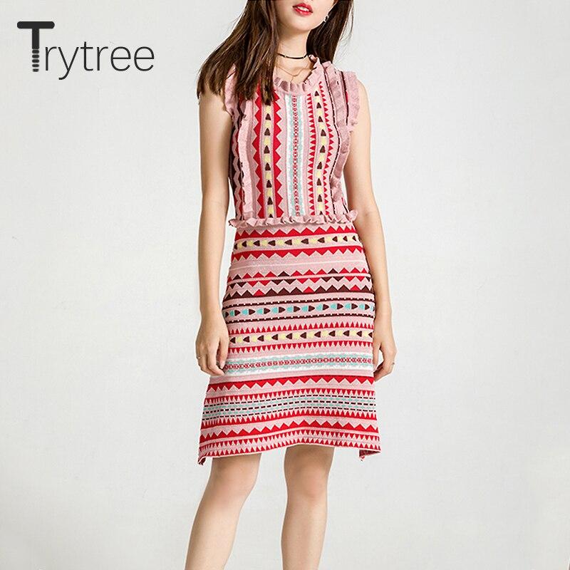 42b174c5be Trytree mujeres de primavera vestido de moda de verano con volantes Vintage  Casual elástico Mini vestido fiesta vestido de camisa de poliéster Rosa  Vestidos ...