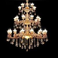 Wrought Iron Chandelier Lighting for Indoor Stairway Lighting Crystal Diamond Chandelier Long Stair Chandeliers for High Ceiling