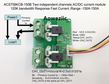Aoweziic ACS758KCB-150B ACS758KCB ACS758 Two independent channels AC/ DC current detection module Rang:-150A-150A