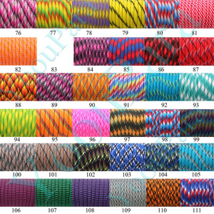 Image 4 - 230 Colors Paracord 550 100FT 50FT Paracord Rope Mil Spec Type III 7Strand Paracorde 550 Survival Kit Equipment Wholesale