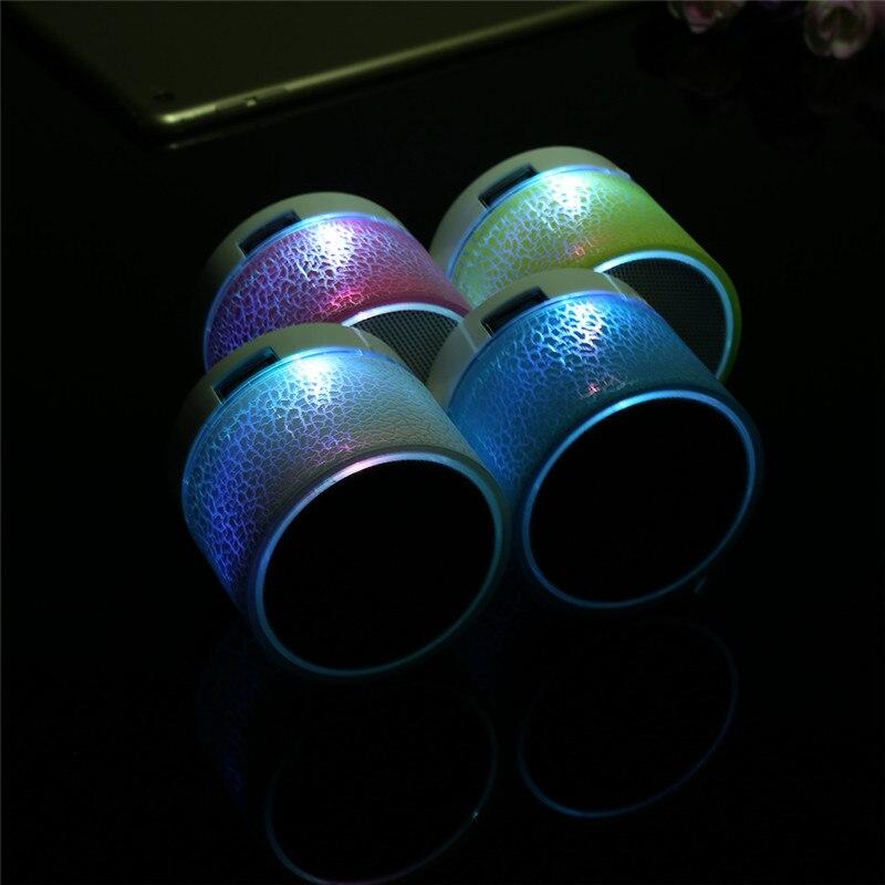 SIFREE Portable Mini A9 Wireless Bluetooth Speaker LED Night Light Support TF USB FM Radio Mic Subwoofer Loudspeaker