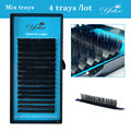 Kirpik Eyelash Extension Individual Lashes Mink Eyelashes False Fake Natural Cilios Posticos Makeup Eye Lash Cils Human Hair Kit