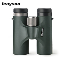 лучшая цена LEAYSOO 10X42 Binocular HD MC-Green Film Nitrogen Waterproof Phase Coating night vision Telescope Binocular Free Shipping