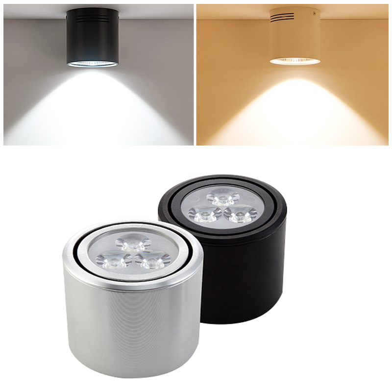 GentelWay holofotes Teto superfície montado lâmpada led 12 9 7 5 3 w w w w w w 15 interior dispositivo elétrico de iluminação ajustável com Lente luminosa