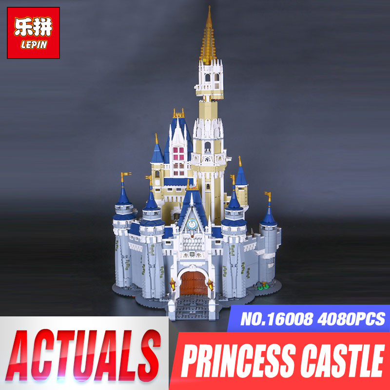 LEPIN 16008 Cinderella Princess Castle City Model Building Block Kid Educational Toys For Children Gift Compatible legoing 71040 lepin 16008 lepin cinderella princess castle building block compatible legoing 71040 legoing cinderella princess castle set