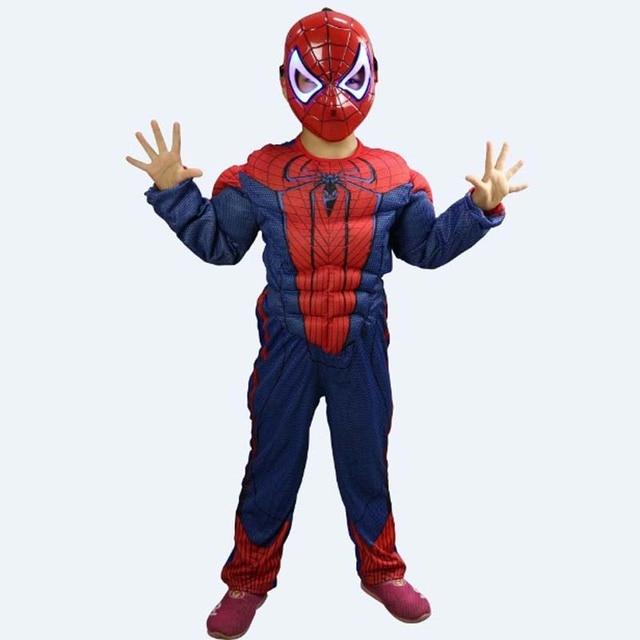 Fantasia Unisex The Avengers Spider man Anime Cosplay Costume di Halloween  per I Bambini ballo in f961b97421c