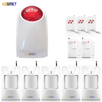 Hot Products 20 Sensor Max Wireless Independent Home Security Alarm Siren With Pir Motion Detector