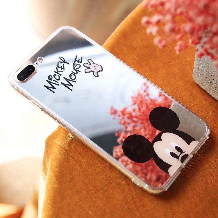HTB1cJ5CbjuhSKJjSspjq6Ai8VXaV - Minnie Mickey Mouse Mirror Case for iPhone 6 s 6S X 10 7 8 Plus 6Plus 6sPlus 7Plus 8Plus SE 5S Cover silicone PTC 333