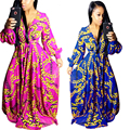 2016 New Arrivals Autumn Long Dress Casual Long Sleeve Bodycon Dashiki Dress Women Elegant African Vintage Print Dresses