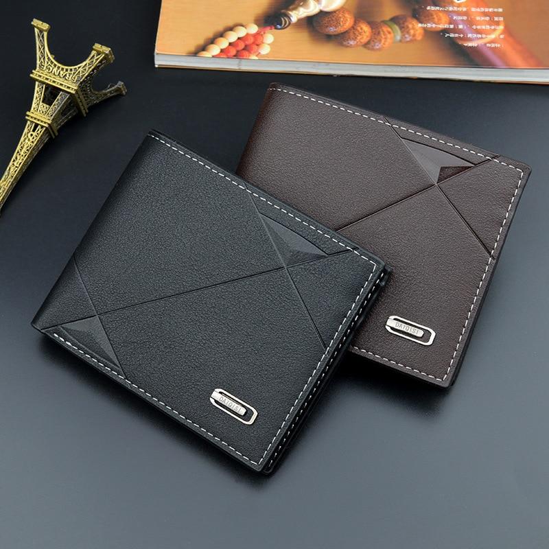 New Fashion Men Wallet Small Cartera Male Purse Boy Wallets Cards Holders Luxury Brand Wallets Designer Porte Monnaie Men's Luxe