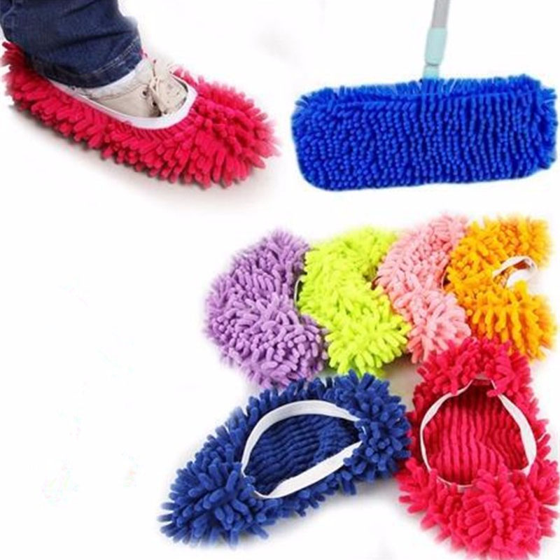 Creative Lazy Foot Socks Mopping Shoes Microfiber Mop Floor Cleaning Mophead Floor Polishing Cleaning Cover Cleaner