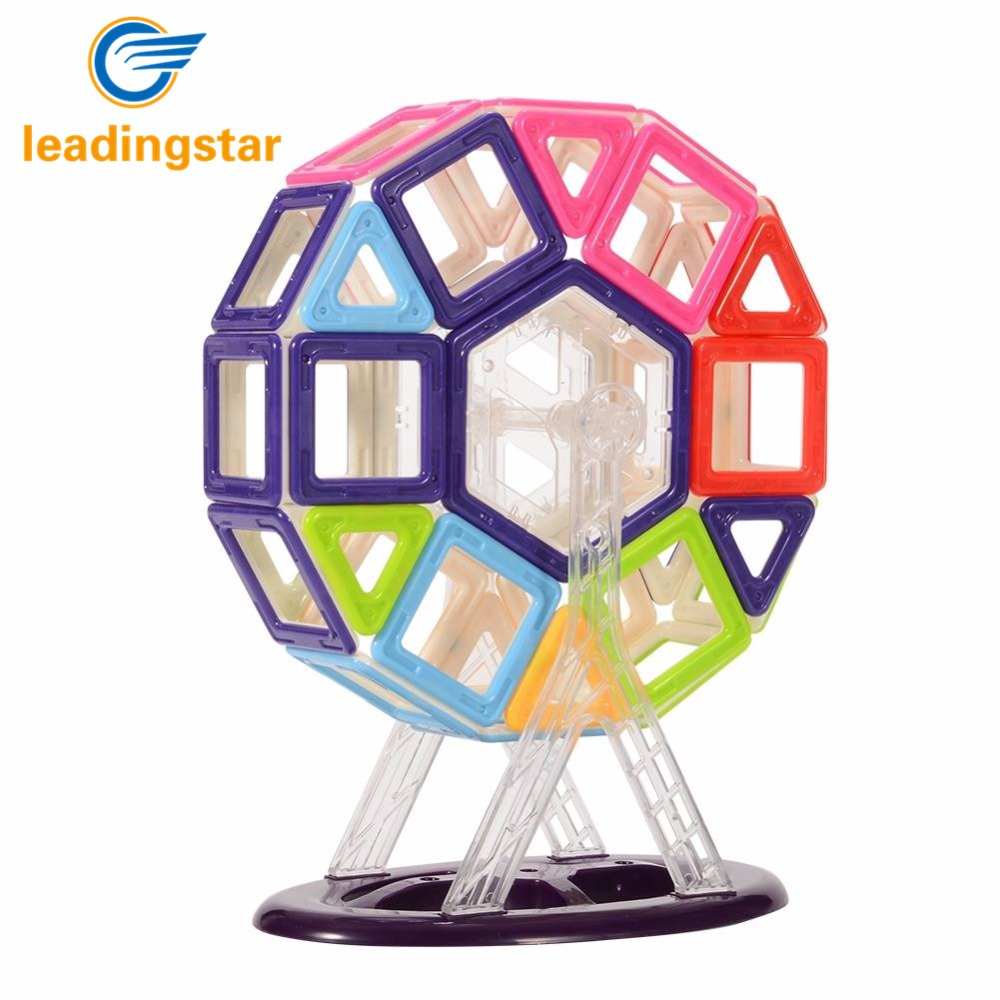 LeadingStar 68pcs Kids Toys Magnetic Building Blocks Set with Wheel Educational DIY Toys Parent-child Activities Toys zk35 cheerlink zm 81 3mm neodymium iron diy educational toys set silver 81 pcs