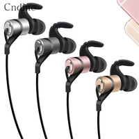 Wireless Earphones With Microphone Stereo Headset Earbud For Smartphones Bluetooth Earphone Magnetic Sport Running Gold 4