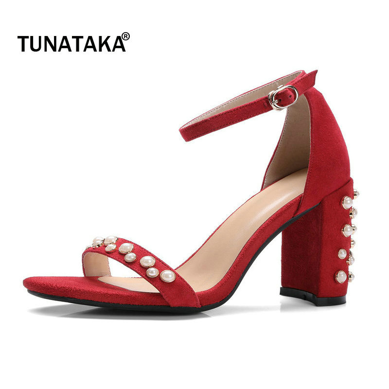 Suede Thick High Heel Open Toe Woman Ankle Strap Sandals Fashion Buckle Wedding High Heel Shoes Summer Shoes Woman Black sandalia feminina suede leather ankle strap ladies open toe pumps black high heel sandals women wedding shoes dorisfanny