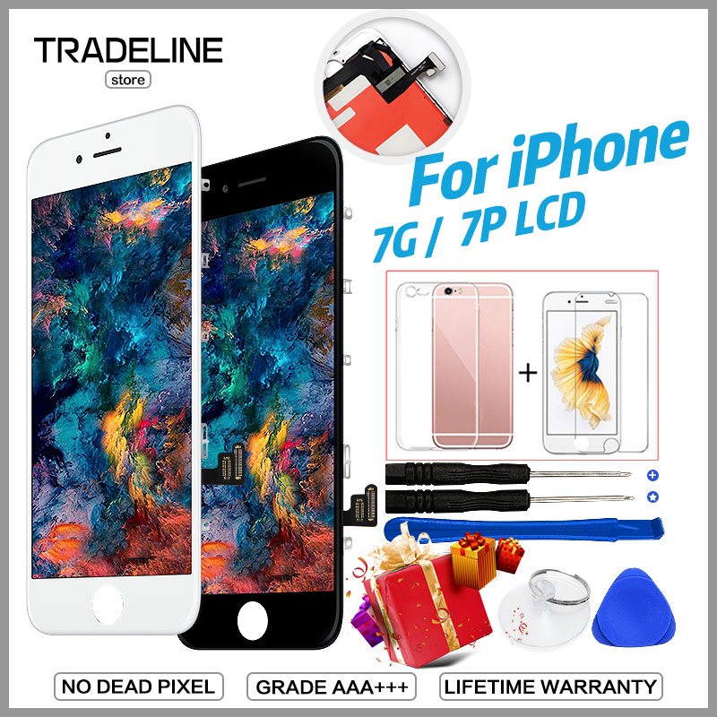 100% No Deal Pixel Display For iPhone 6 7 8 Plus LCD With 3D Touch Digitizer Assembly Replacement Grade AAA+++ Quality