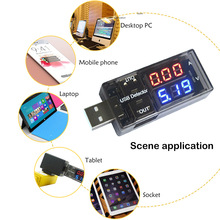 цена на New USB Voltage Current Charging Detector Mobile Power Current Voltmeter Ammeter USB Charger Tester Double Row Shows