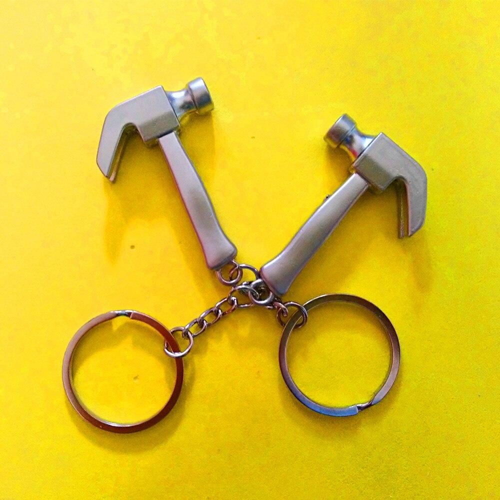 Zinc Alloy Hammer Hardware Tools Pendant Car Key Chain Keychain Keyring O3