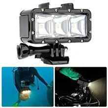 GoPro flashLight lamp Underwater Diving Waterproof LED Flash Video Light Mount For Go Pro Hero 4/3+,SJCAM SJ4000 H9 H9R