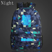2017 New Arrival Attack On Titan Backpack School Shoulder Bag Anime Printing Backpack For Teenagers Mochila Boys Girls Bags Gift