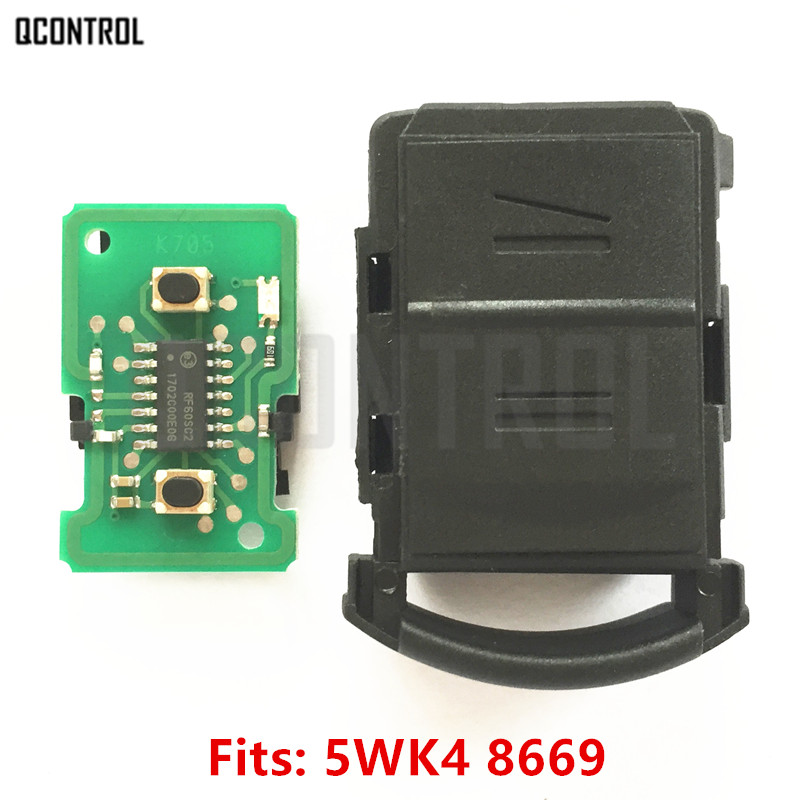 QCONTROL coche clave cabeza traje para OPEL/VAUXHALL CE0499 AGILA MERIVA ASTRA CORSA C COMBO VAN TIGRA VECTRA transmisor