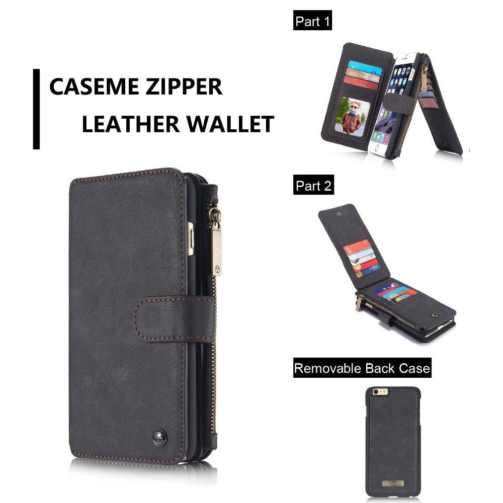 bilder für CaseMe multifunktionale 14 Karten Halter 6 S Plus Mappenkasten für iPhone 6 Plus, Retro 6G Mappenkasten Für iPhone 6 S Leder abdeckung
