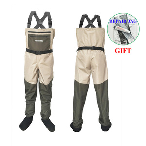 Image 1 - Fly Fishing Waders Clothing Portable Chest Overalls Waterproof Clothes Wading Pants Stocking Foot Good As Daiwa For Fish Shoes