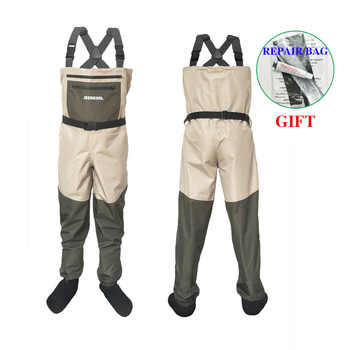 Fly Fishing Waders Clothing Portable Chest Overalls Waterproof Clothes Wading Pants Stocking Foot Good As Daiwa For Fish Shoes - DISCOUNT ITEM  40% OFF All Category