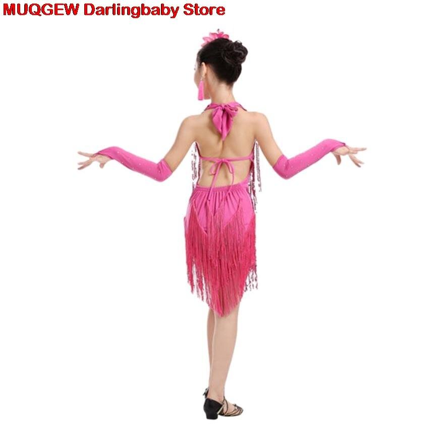 431db9808477 Toddler Children Latin Ballet Girls Dress Tassel Dancewear Ballroom ...