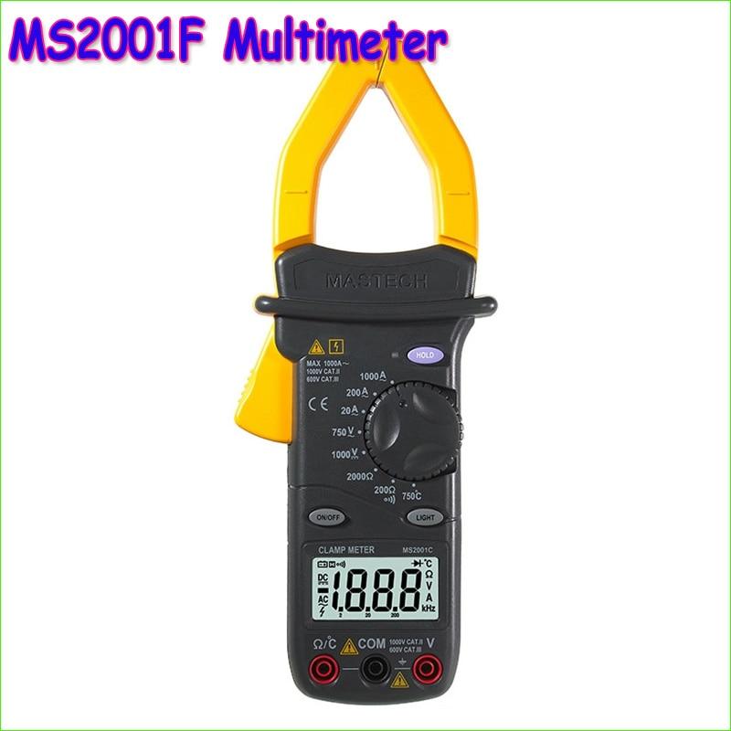 1шт MASTECH MS2001F клещи 31/2 бит Цифровой мультиметр Вольтметр Непрерывность / Диодный тестер ЖК-дисплей диагностический инструмент-  самодельные вольтметры схемы