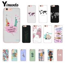 Yinuoda Travel around the world TPU Phone Case Cover for iPhone X XS MAX  6 6s 7 7plus 8 8Plus 5 5S SE XR 10 11 11pro 11promax