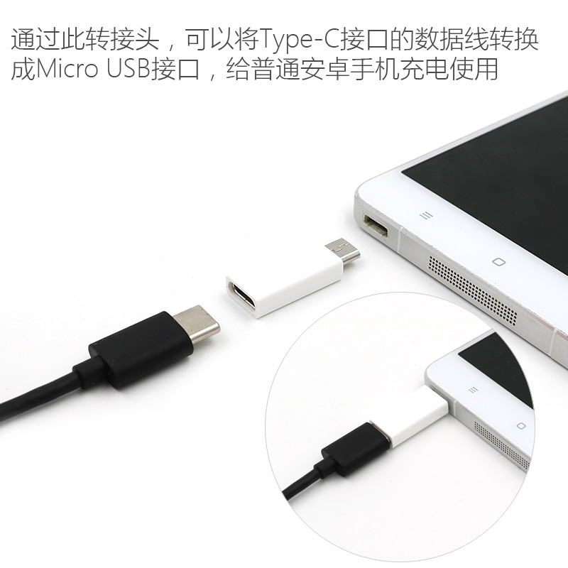 Type-C Female To Micro USB Male Charging Converter,USB 3.1 Type C Charging adapter Cable for samsung galaxy s3 s4 Note 4 5 LG