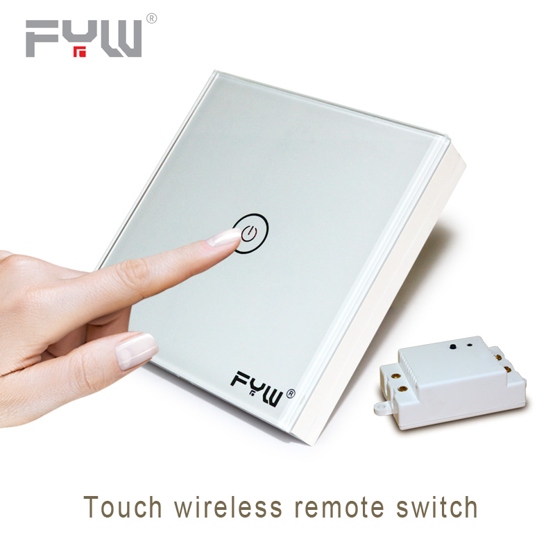 Smart Home House Intelligent Luxury Crystal Glass Wall Switch Touch Switch Normal 1 Gang 1 Way Switch Wireless Remote Control 86 type one touch switch intelligent home wireless radio frequency remote control wall switch