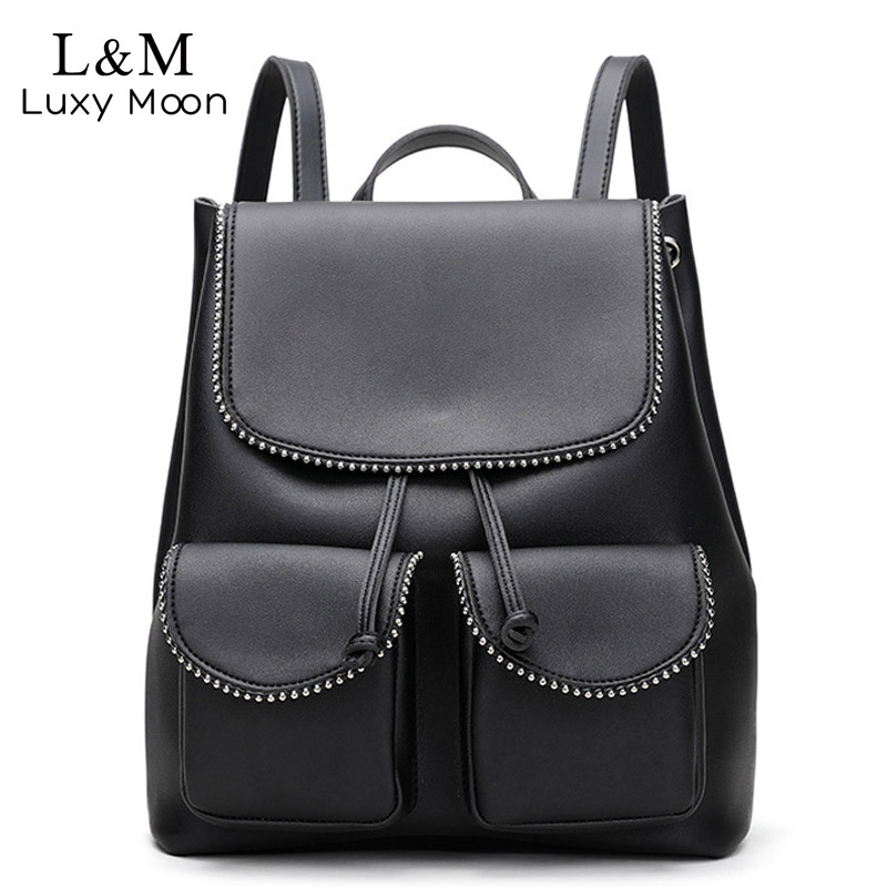b79b25c05662 Detail Feedback Questions about Fashion Multi function Soft Leather  Backpack Female Drawstring School Bag Rucksack 2018 New High Quality Lady  Backpacks ...