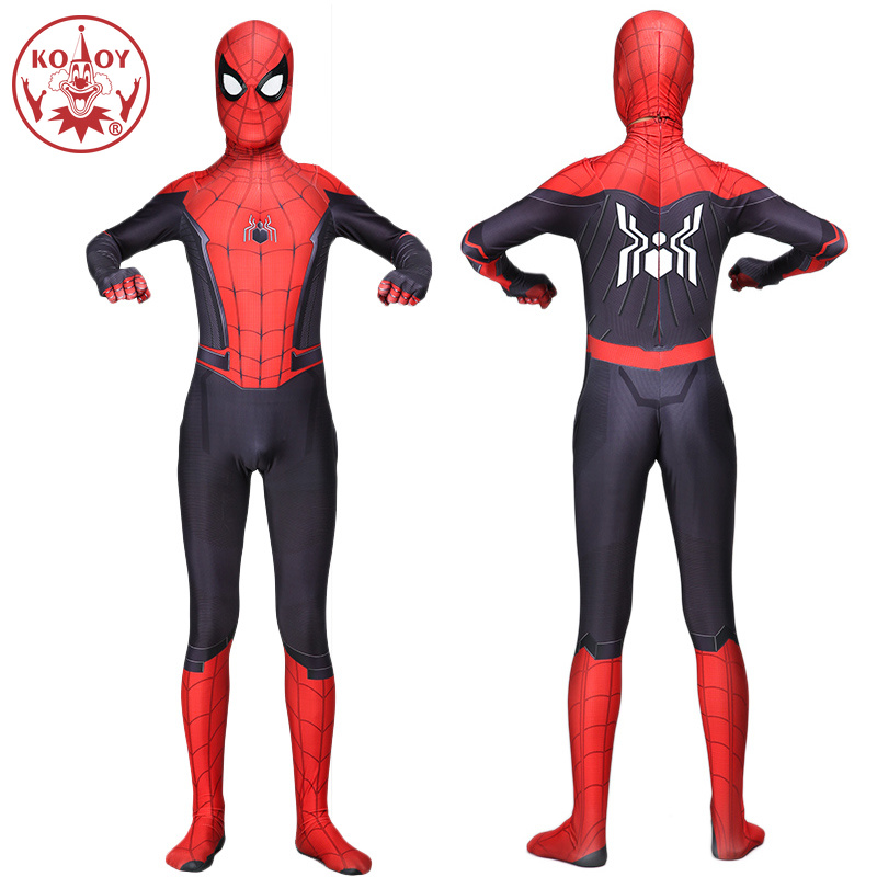 2019 Adult Marvel Movie Spiderman Hero Expedition Cosplay Costume 3D Digital Printed Lycra spandex Jumpsuit